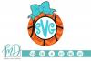 Basketball Monogram Frame SVG, DXF, AI, EPS, PNG, JPEG example image 1