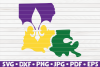 Louisiana State| Mardi Gras design| SVG | cut file example image 1