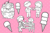 Ice Cream Truck Digital Stamps example image 3