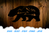 Bear Mountains Silhouette SVG DXF Cut Files example image 3
