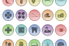 50 Medical Filled Low Poly Icons example image 2