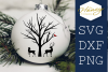 Chrismas Deer Cardinal Tree Winter SVG PNG DXF example image 1