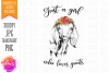 Just a Girl Who Loves Goats - Hand Drawn Printable Design example image 2