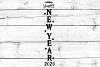 Happy New Year Porch Sign SVG, DXF, PNG, EPS example image 1