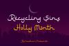 Ramadhan Karim - Arabic Fauxlang Font example image 4