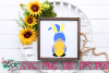 Gnome with Easter Bunny Ears - An Easter Gnome SVG example image 2
