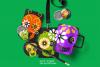 Skulls Clipart Set Kids Friendly Look PNG Files example image 3