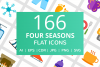 166 Four Seasons Flat Icons example image 1