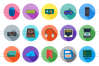 45 Computer Flat Long Shadow Icons example image 2