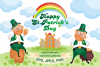 Happy st.Patricks Day. Vector clip arts and seamless patterns. example image 1