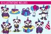 Party Panda Birthday Illustrations example image 2