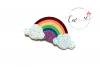 Rainbow Hair Clip Digital Template | Rainbow Clip Template example image 2
