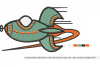RETRO Rocket ~ Machine Embroidery Design in 2 sizes - Instant Download ~ Futuristic Jestons' Style Rocket example image 2
