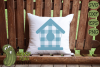 Plaid & Grunge Birdhouse SVG Cut File for Spring or Easter example image 2