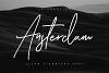 Ansterdam - Clean Signature Font example image 1