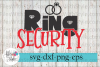 Ring Bearer Security Wedding SVG Cutting Files example image 1