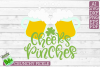 Cheers Pinches St. Patrick Clover Beer Mugs SVG Cut File example image 3