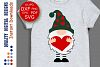 Valentine's day svg Gnome with heart svg example image 1