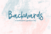 Backwards - A Hand-Lettered Signature Font example image 1