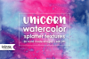 Unicorn Watercolor Splatter Textures example image 1