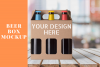 Beer Box Mock up Scene - PNG example image 1