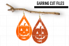 Pumpkin Earrings Svg / Halloween Earrings / Cut Files example image 1