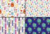 Back to School Digital paper / School Supplies pattern / School Background / Teacher Printable paper example image 3