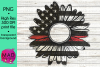 Thin Red Line - Rustic Sunflower - Firefighter example image 1