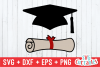 Graduation Hat & Diploma| Cut File example image 1