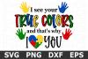 True Colors - An Awareness SVG Cut File example image 1