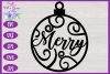 Christmas Word Ornaments SVG | Laser Cut Baubles SVG example image 9
