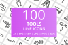 100 Tools Line Icons example image 1