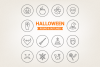 Circle Halloween Icons example image 1