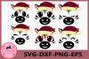 Zebra Face SVG, Christmas Svg, Zebra Eyelashes Face, Zebra example image 1
