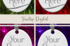 Oval Christmas Ornament Mockup, Sublimation Mock-Up, PSD example image 14