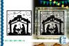 SVG Nativity Scene Glass Block, Cut File, Clip Art FWS450 example image 1
