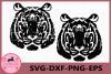Tiger Grunge SVG, Tiger Silhouette, Tiger SVG, Tiger Clipart example image 1