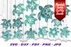 BIG Mandala Sea Turtle SVG DXF Cut Files Bundle example image 1