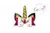 Unicorn Hair Bow Digital Template |Unicorn Hair Bow Template example image 2