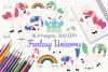 Fantasy Unicorns Clipart, Instant Download Vector Art example image 1
