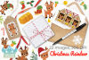 Christmas Reindeer Clipart, Instant Download Vector Art example image 4