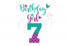 My 7th Birthday Mermaid SVG | Mermaid Birthday Girl svg example image 1