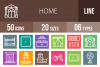 50 Home Line Multicolor B/G Icons example image 1