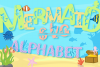 Mermaid Alphabet and Split Letters SVG Cut Files Pack example image 1