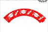 Graduation Cupcake Wrapper SVG - png - eps - dxf - ai - fcm - Graduation SVG - Silhouette - Cricut - Scan N Cut - Grad SVG example image 1