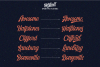 Harlend 6 fonts with extras intro example image 4