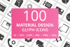 100 Material Design Glyph Icons example image 1
