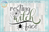 Resting Witch Face with Spider Web SVG example image 1