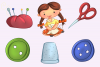 Cute Sewing Clip Art Collection example image 4