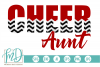 Cheer Aunt - Cheerleader SVG, DXF, AI, EPS, PNG, JPEG example image 1